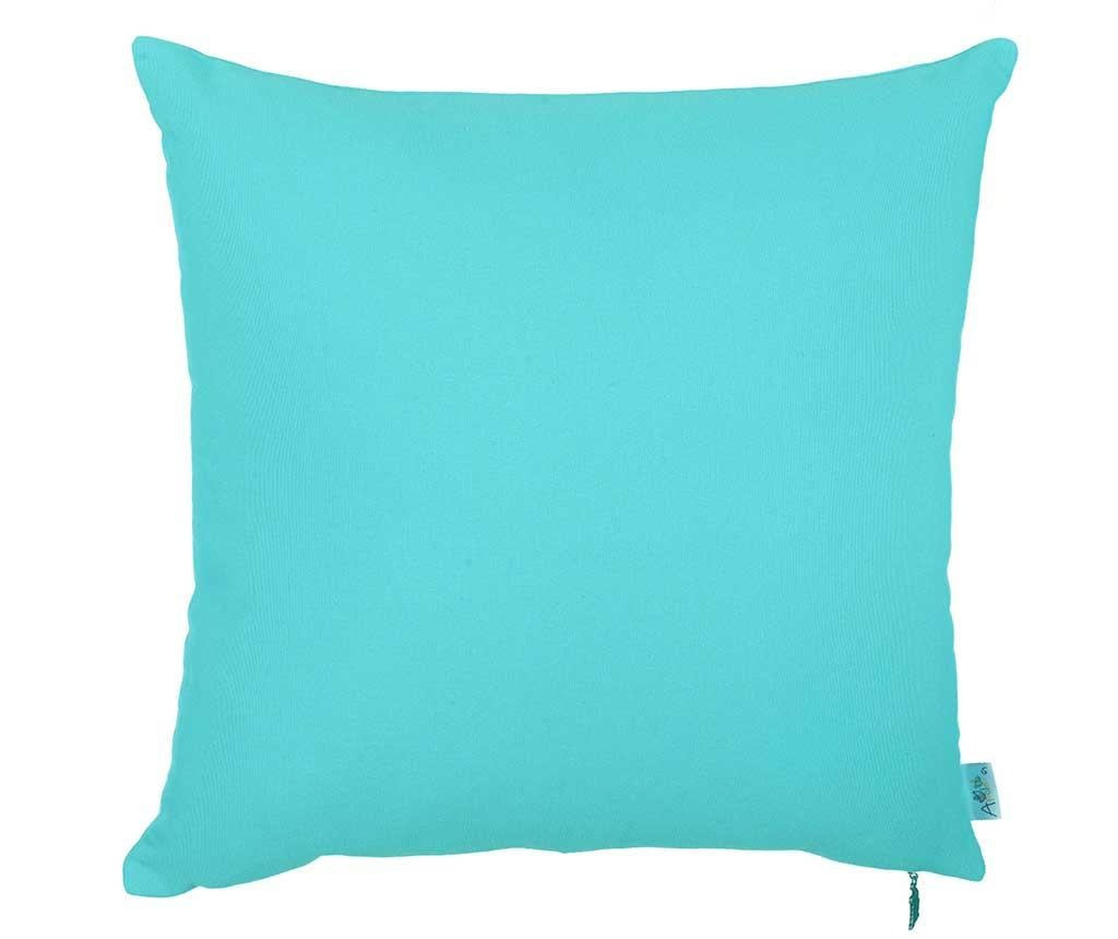 Fata de perna Thoughts Turquoise Blue 41x41 cm