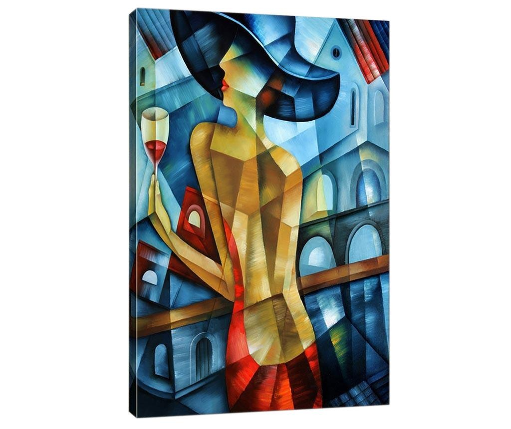 Slika 3D Lady in Red 50x70  cm