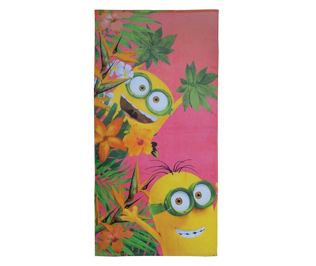 Kopalniška brisača Minions Flowers 75x150 cm