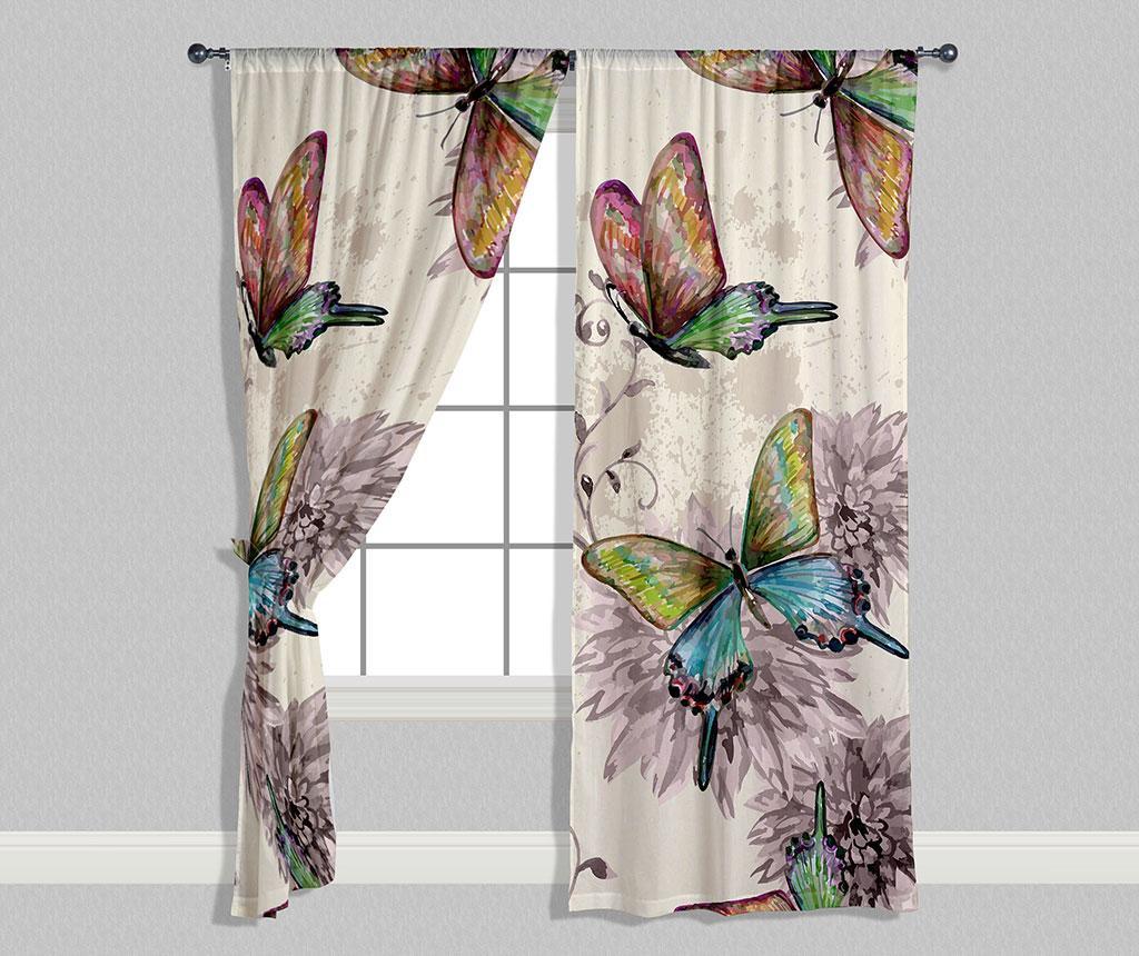 Set 2 zastorov Butterflies 140x240 cm