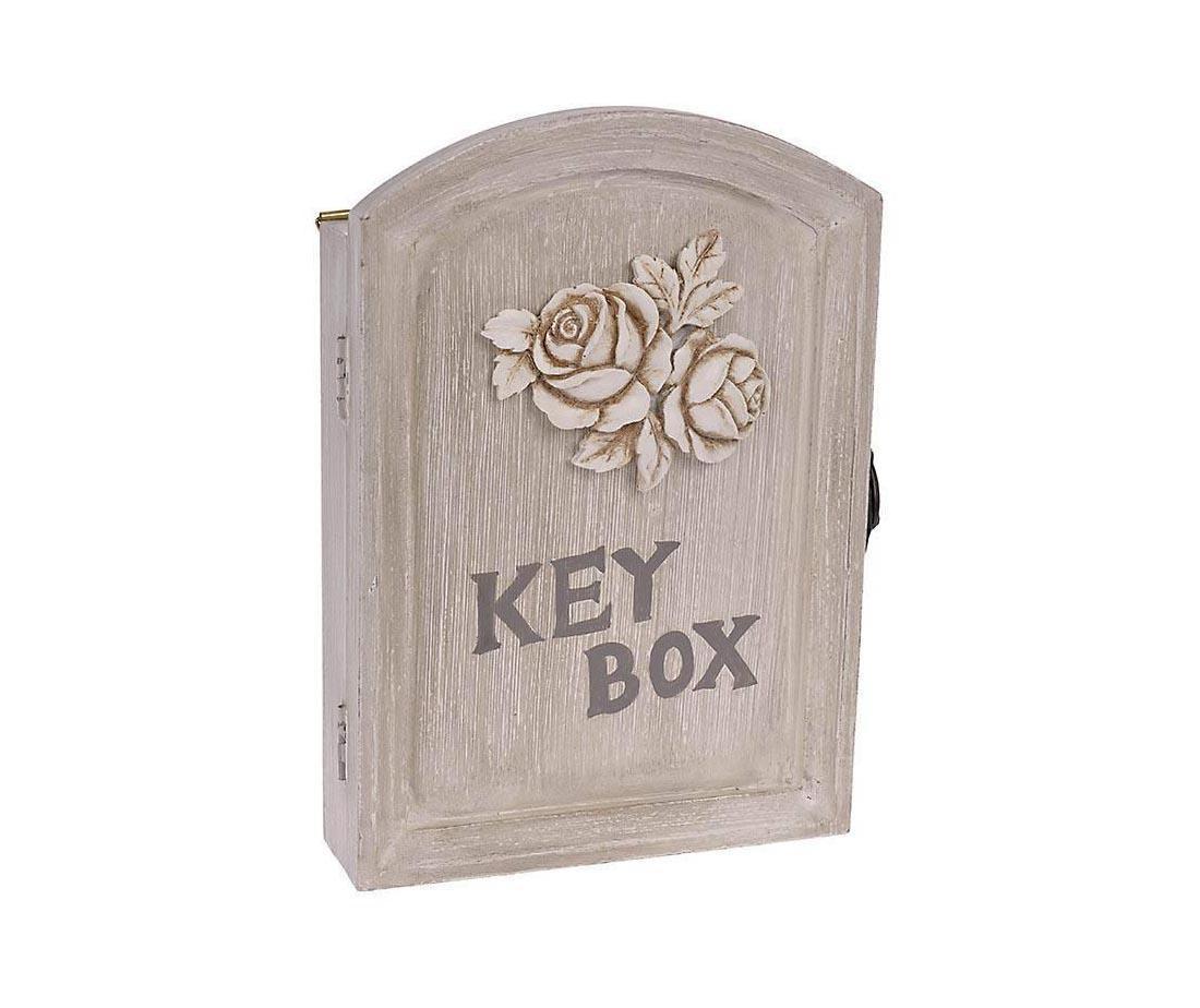 Beige Roses Kis szekrény kulcsoknak