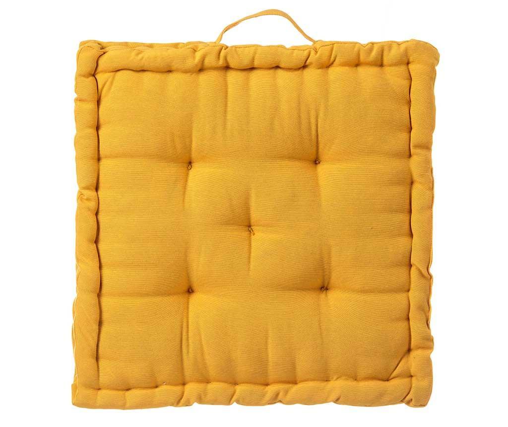 Perna de podea Loving Colours Yellow 45x45 cm