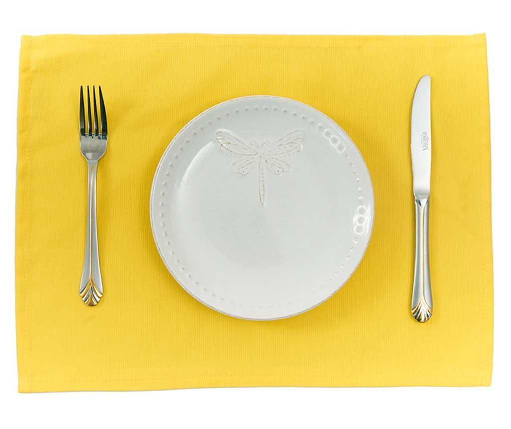 Set 2 podmetača Plane Yellow 33x45 cm