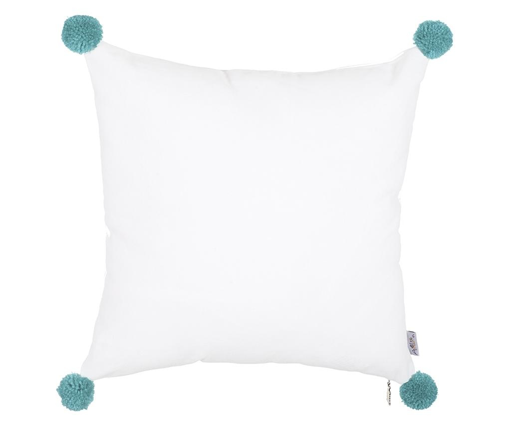 Fata de perna Clover White and Blue 41x41 cm