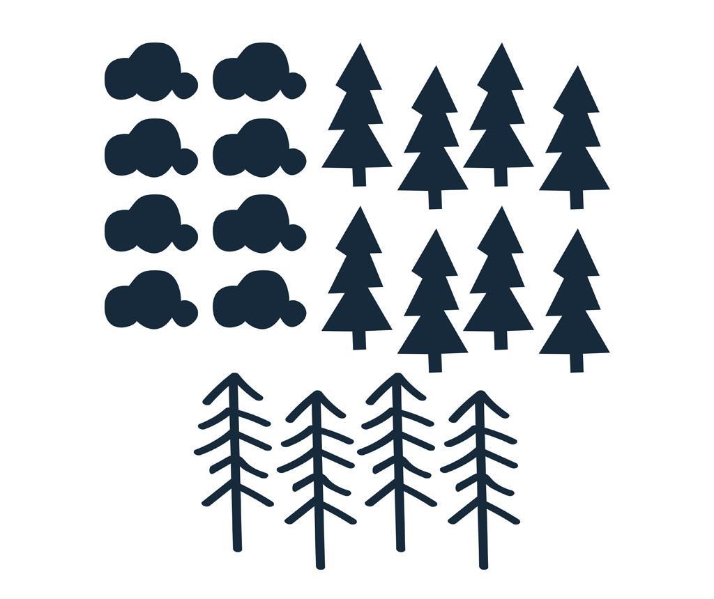 Set 20 naljepnica Trees