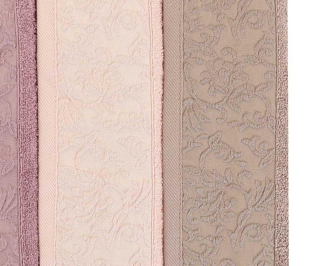 Set 6 prosoape de baie Wash Lilac 30x50 cm
