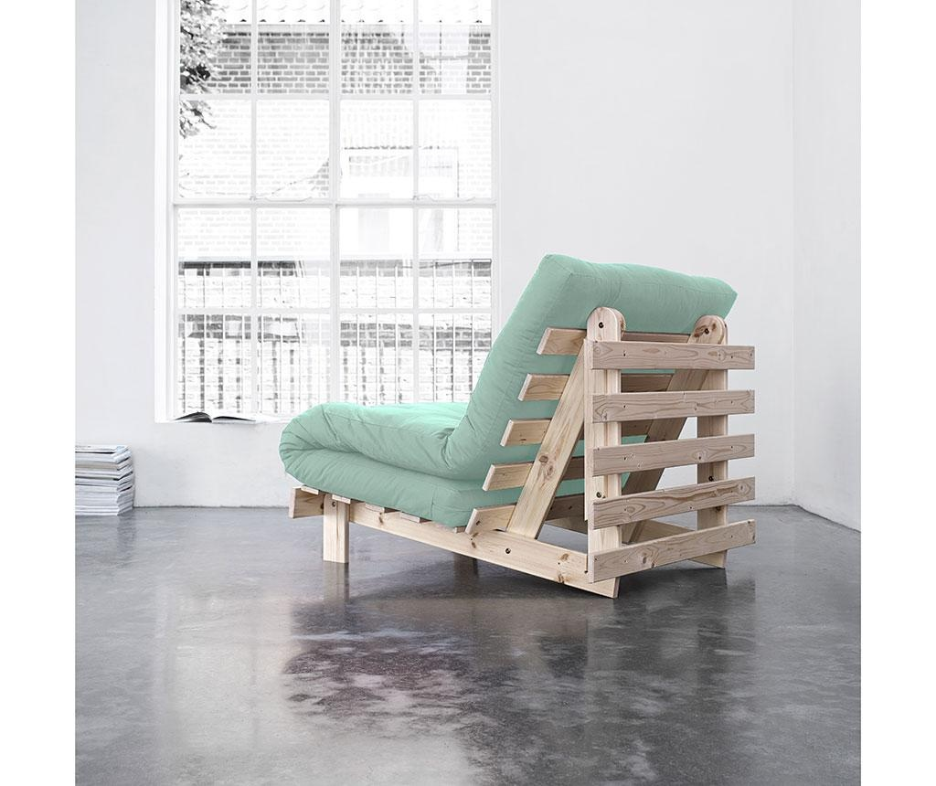 Sofa extensibila Roots Raw Unfinished and Peppermint 90x200 cm