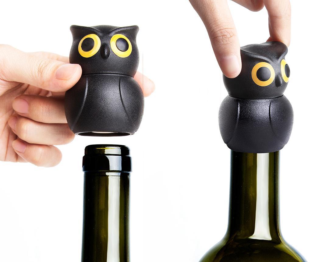 Zátka na fľašu vína Owl Black