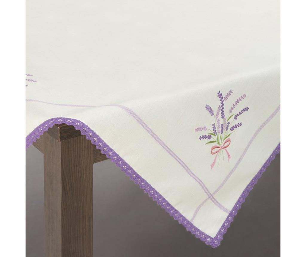 Stolnjak Sadie Cream Purple 85x85 cm