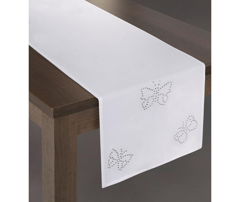 Bieżnik stołowy Melania White 40x180 cm
