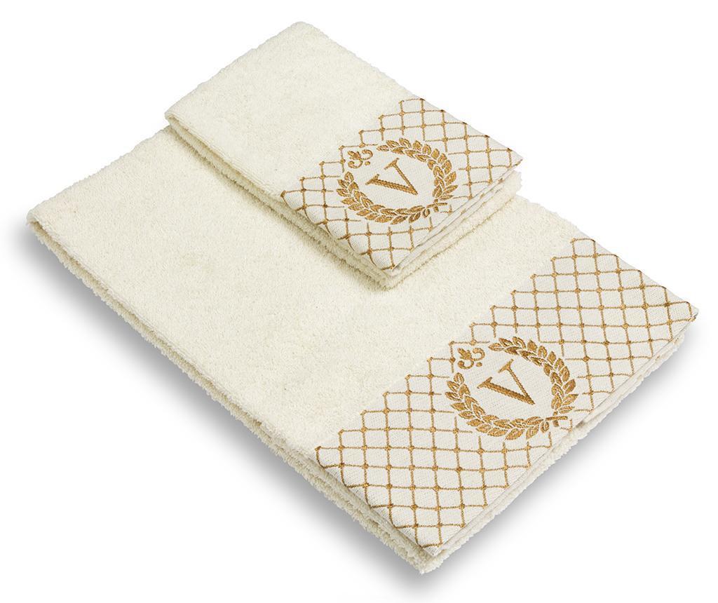 Set 2 kupaonska ručnika Monogram V