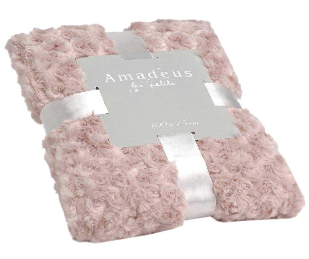 Priročna odeja Little Roses Old Pink 75x100 cm
