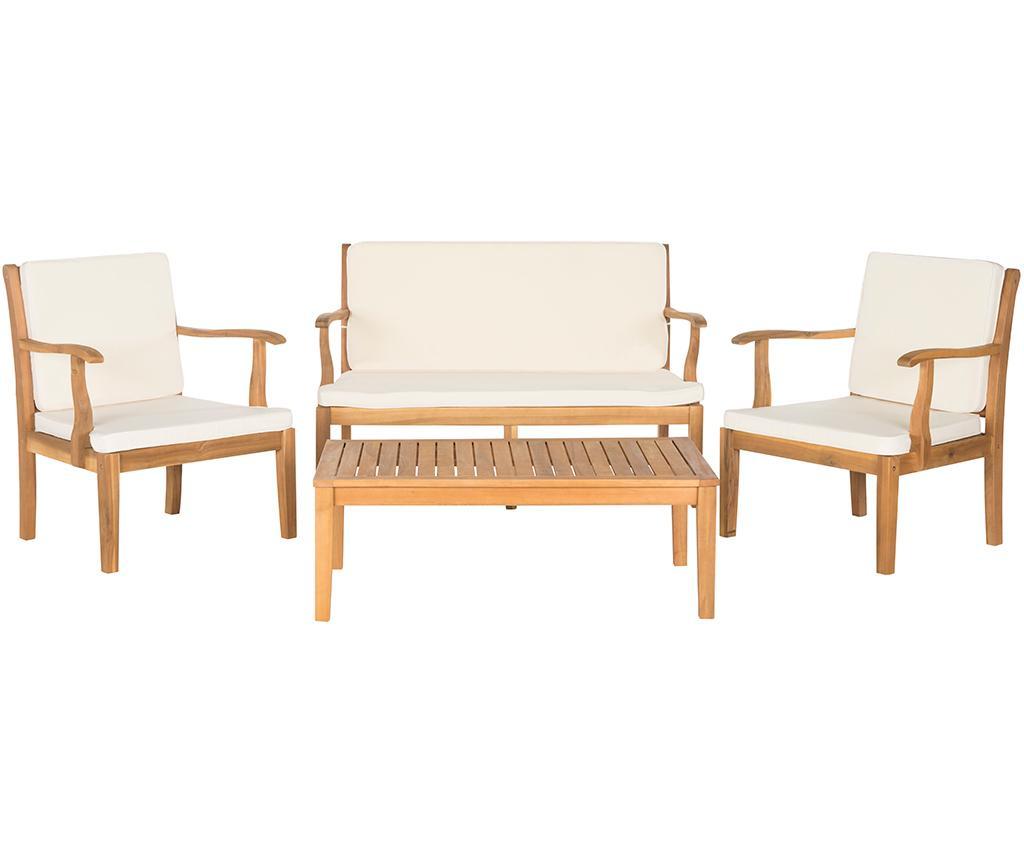 Sada venkovního nábytku, 4 díly Lugano