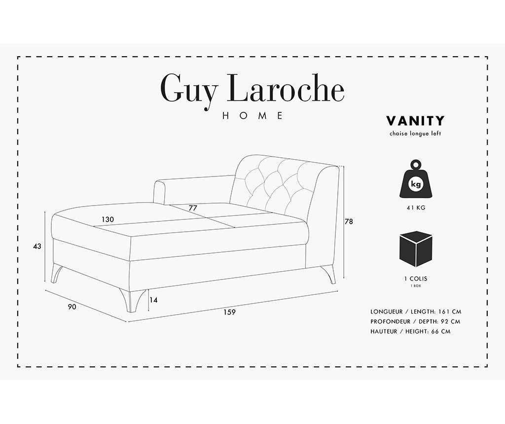 Vanity Grey Baloldali Szófa
