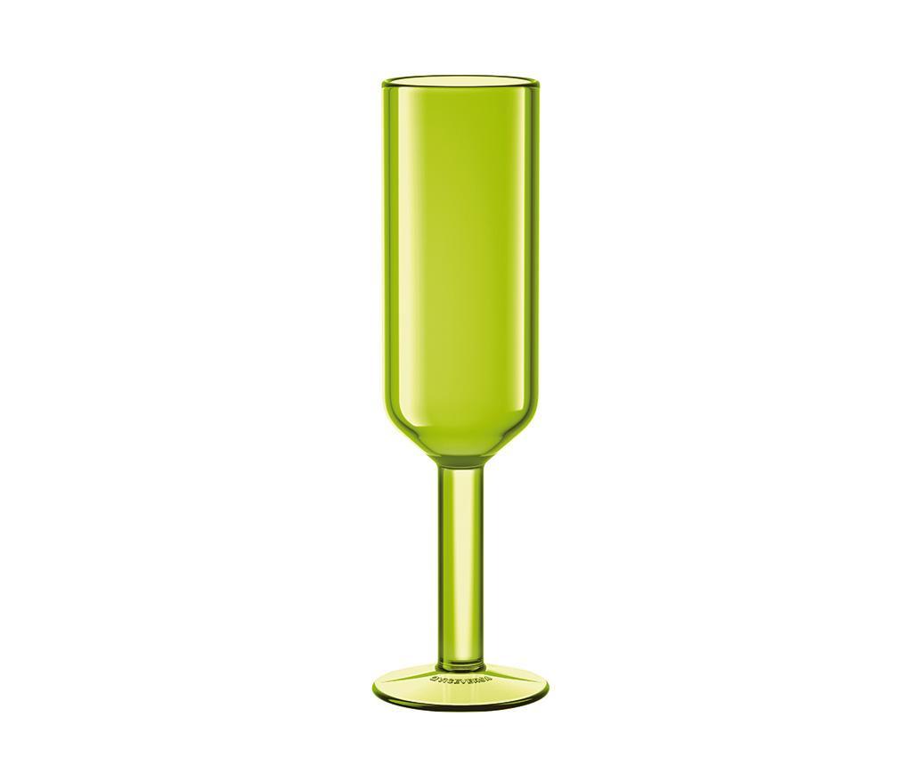 Pahar pentru sampanie The Good Times Green 160 ml
