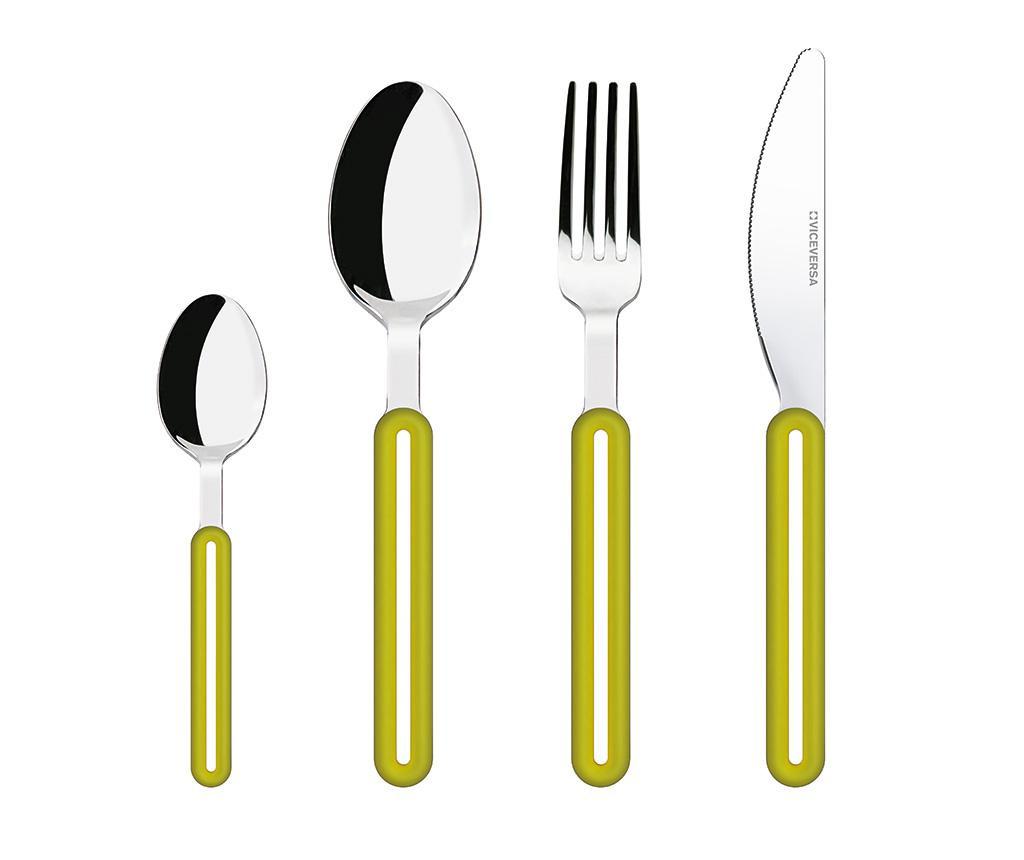 4-dijelni set pribora za jelo Offset Green