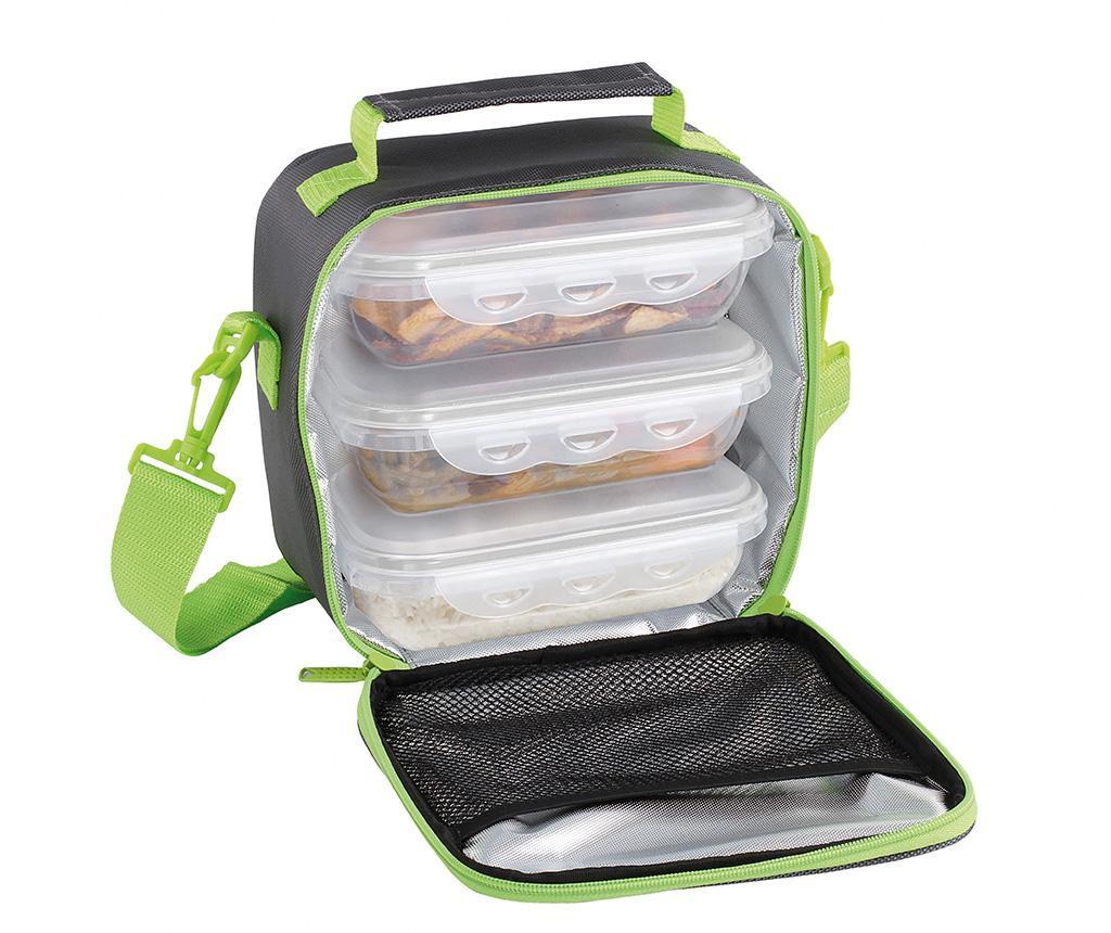 Set 3 škatel za hrano in torbe Nomad Green