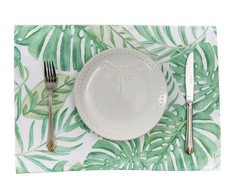 Set 2 podmetača White Tropical 33x45 cm