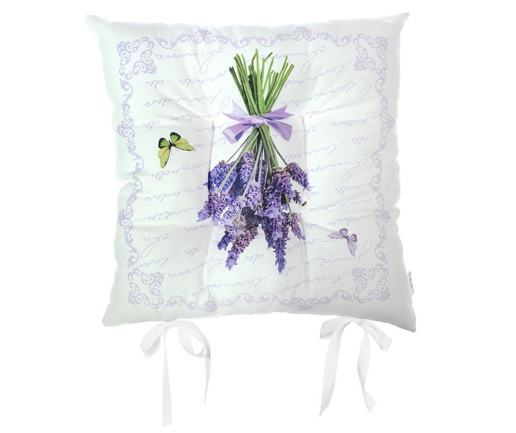 Jastuk za sjedalo Butterfly & Lavender 37x37 cm