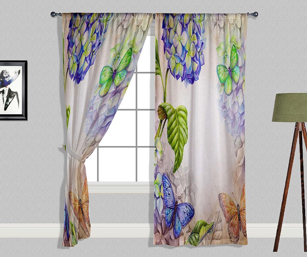 Set 2 zastorov Hydrangea 140x240 cm