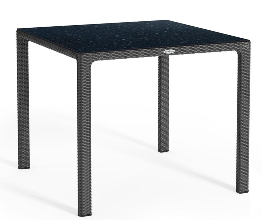 Masa pentru exterior Raffia Square Black