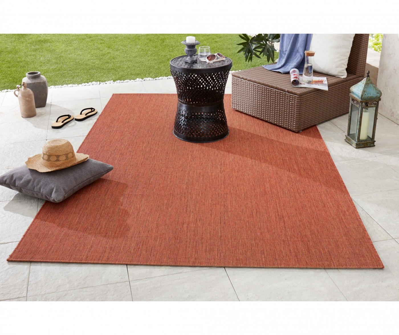 Covor de exterior Meadow Match Terracotta 160x230 cm