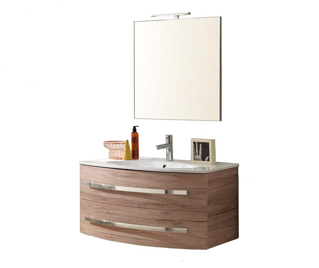Czteroczęściowy zestaw łazienkowy Nica Oak Sand