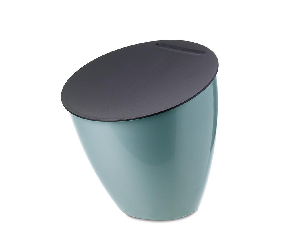 Cos de gunoi cu capac Calypso Green 2.2 L