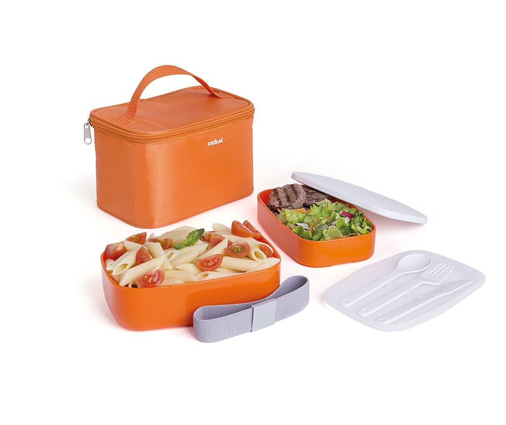 Zestaw pudełko obiadowe  z 3 sztućcamii torebką Ronda