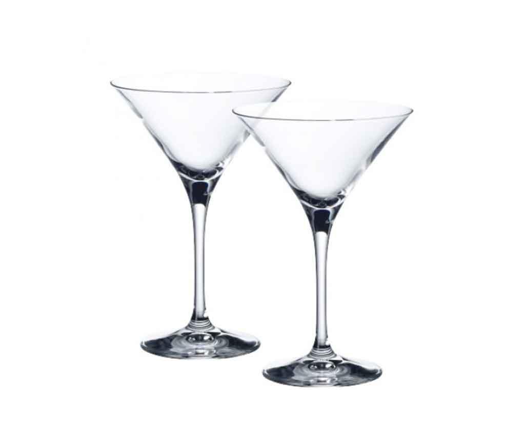 Set 2 pahare pentru martini Purismo 230 ml