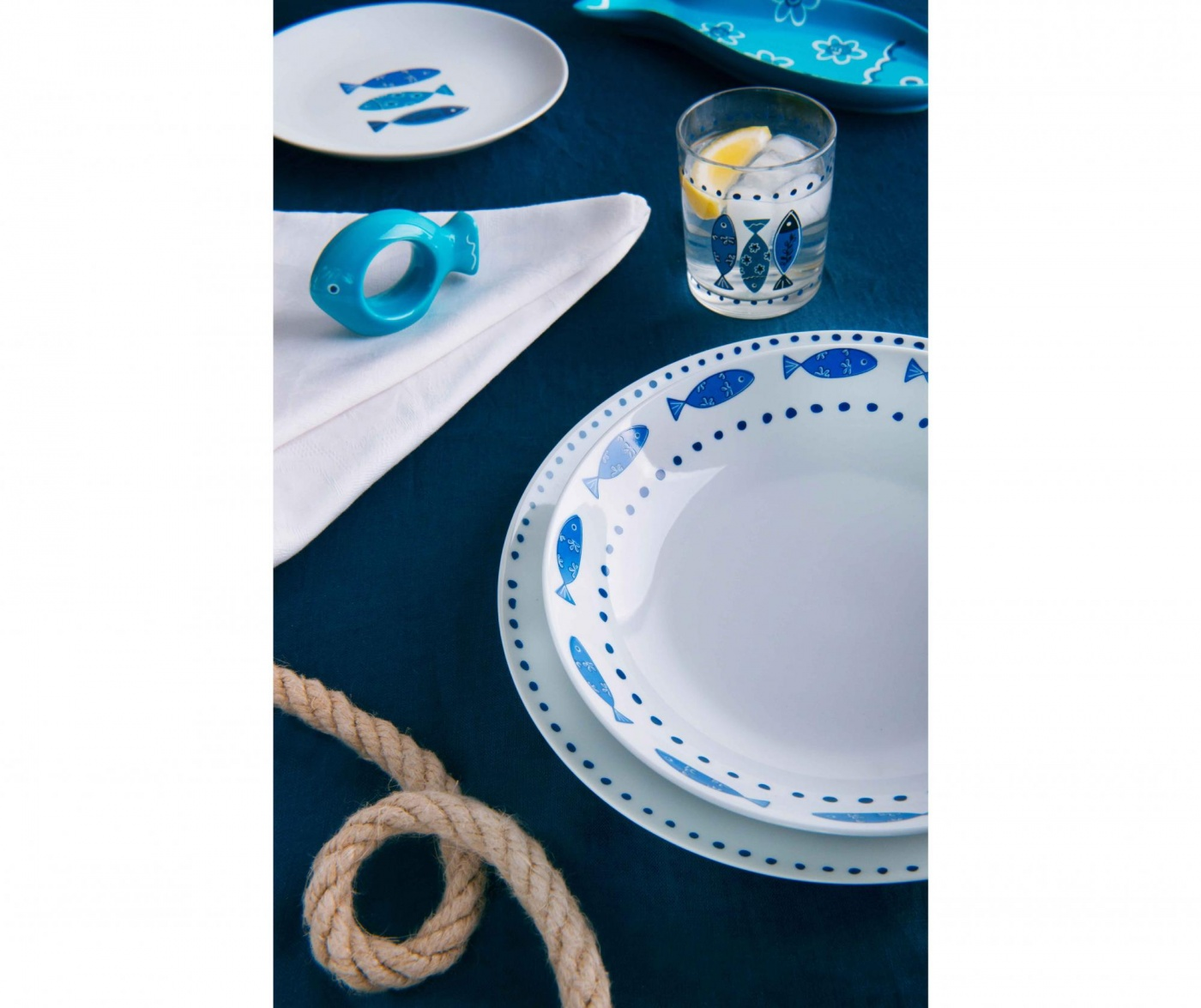 18-dijelni servis za jelo Ocean Blue