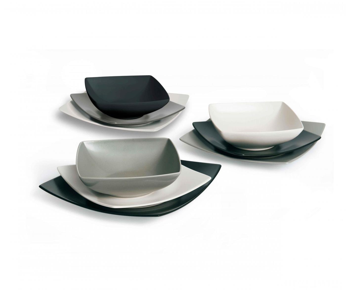 18-dijelni servis za jelo Eclipse Grey