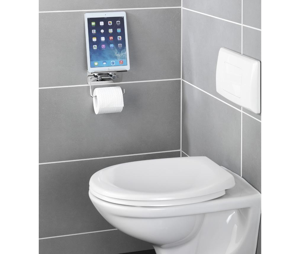 Suport dublu pentru hartie igienica si accesorii Shine