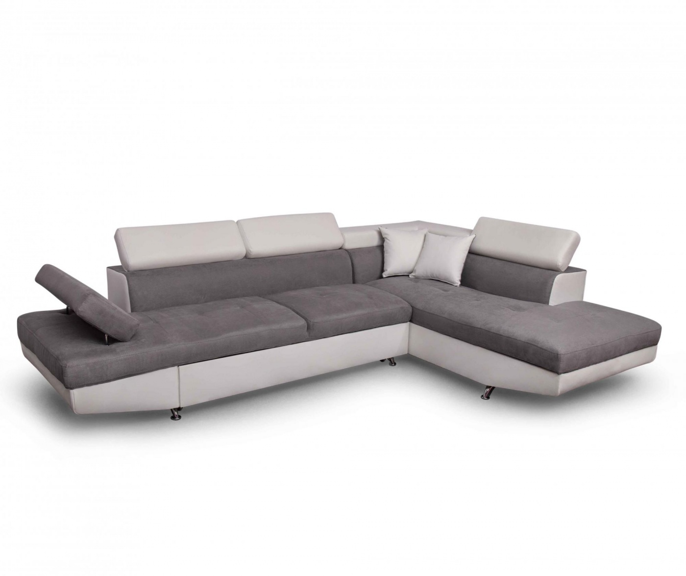 Coltar extensibil dreapta Rio Keaton Dark Grey and White