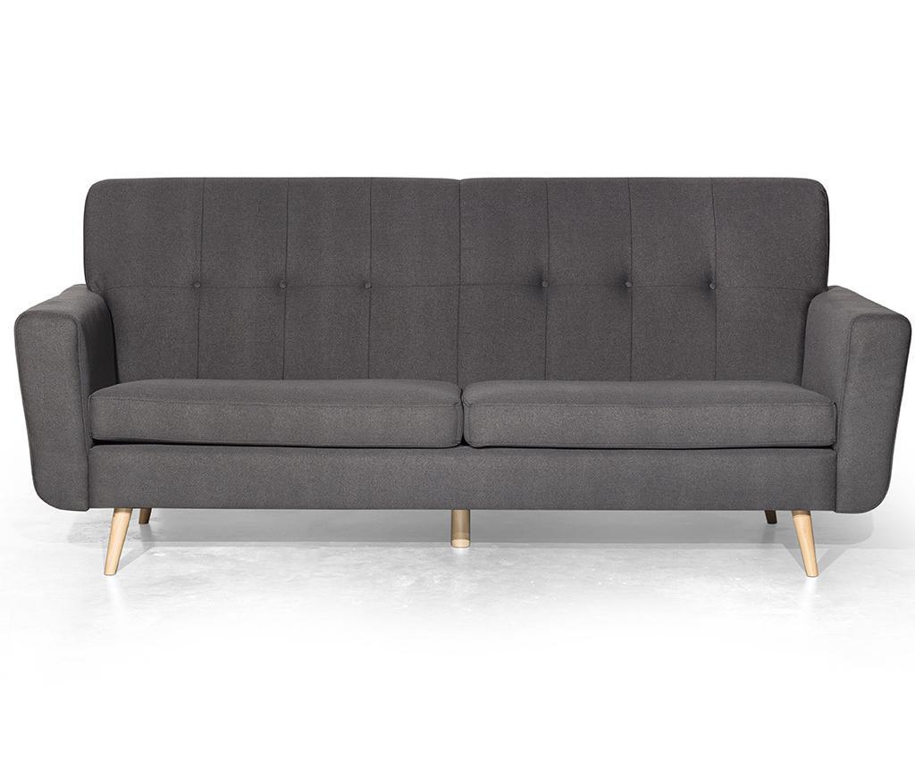 Canapea 3 locuri Retro Zander Grey