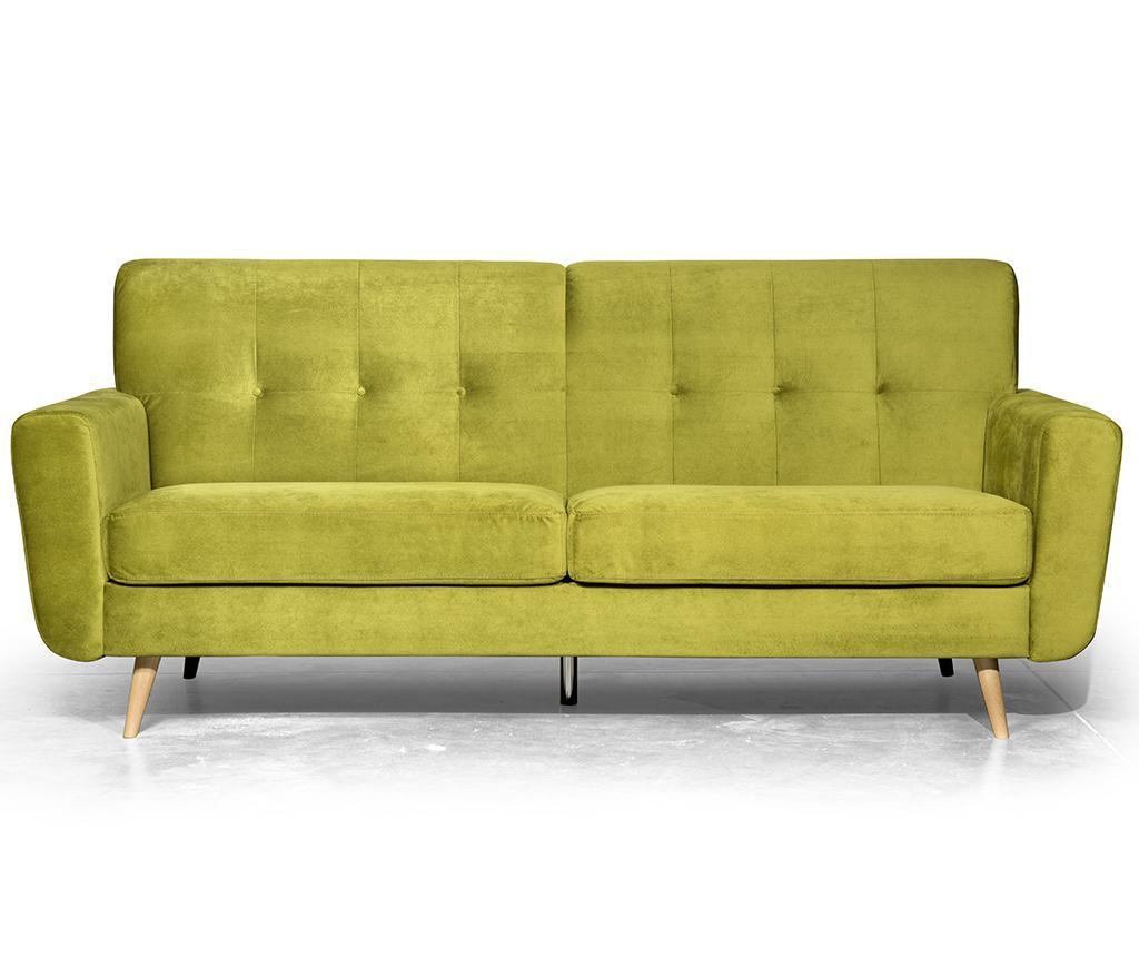 Canapea 3 locuri Retro Zander Lime
