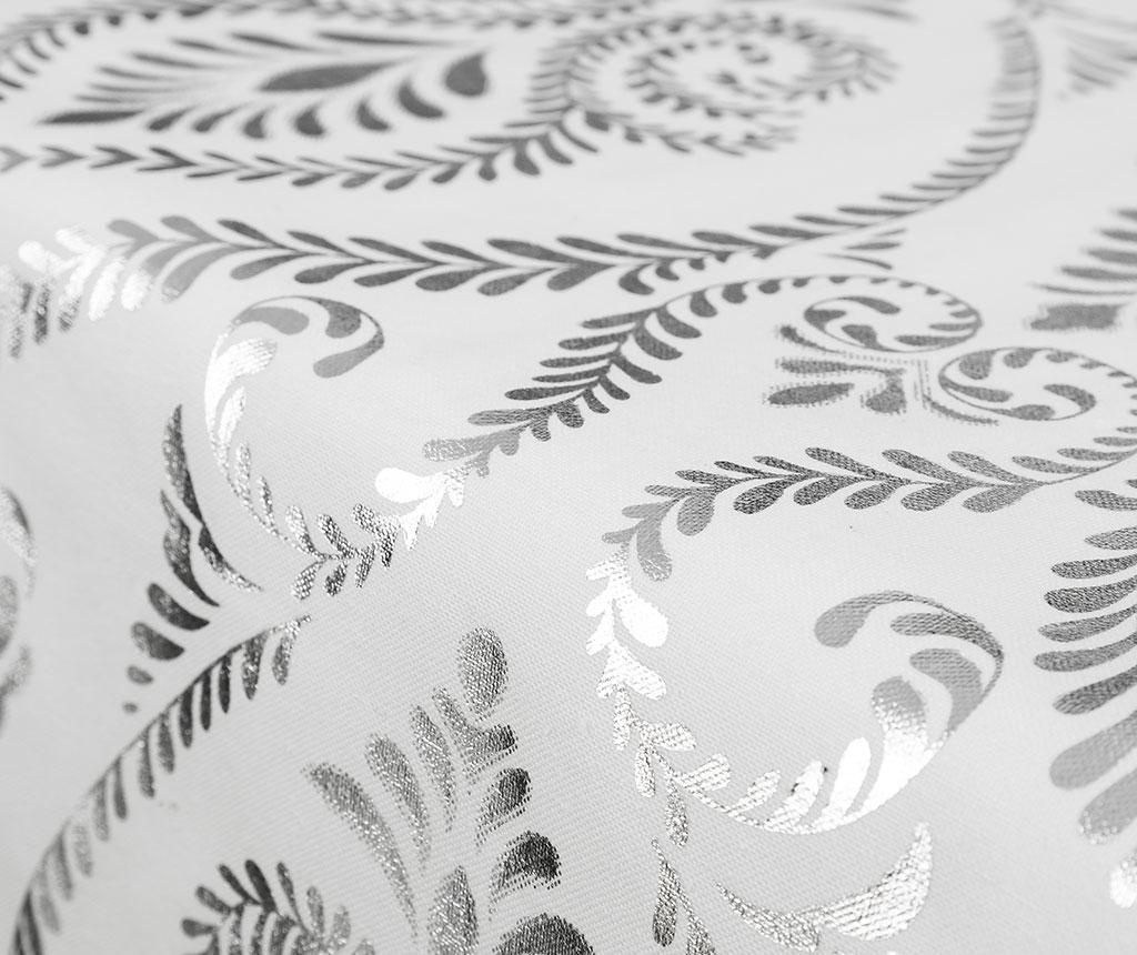 Nadstolnjak Baroque White Silver 45x150 cm