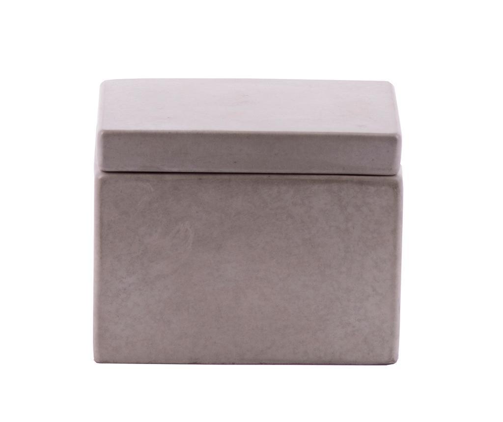 Cutie cu capac Cubic Concrete