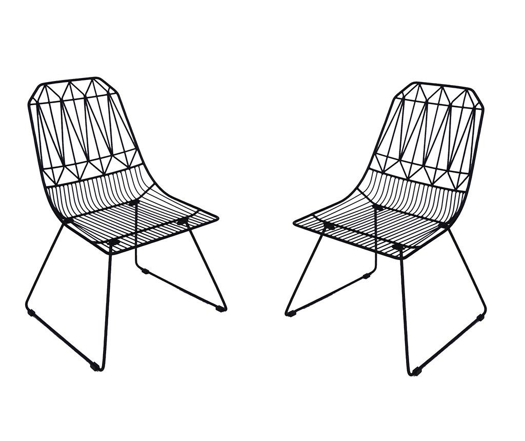 Set 2 scaune pentru exterior Poltron