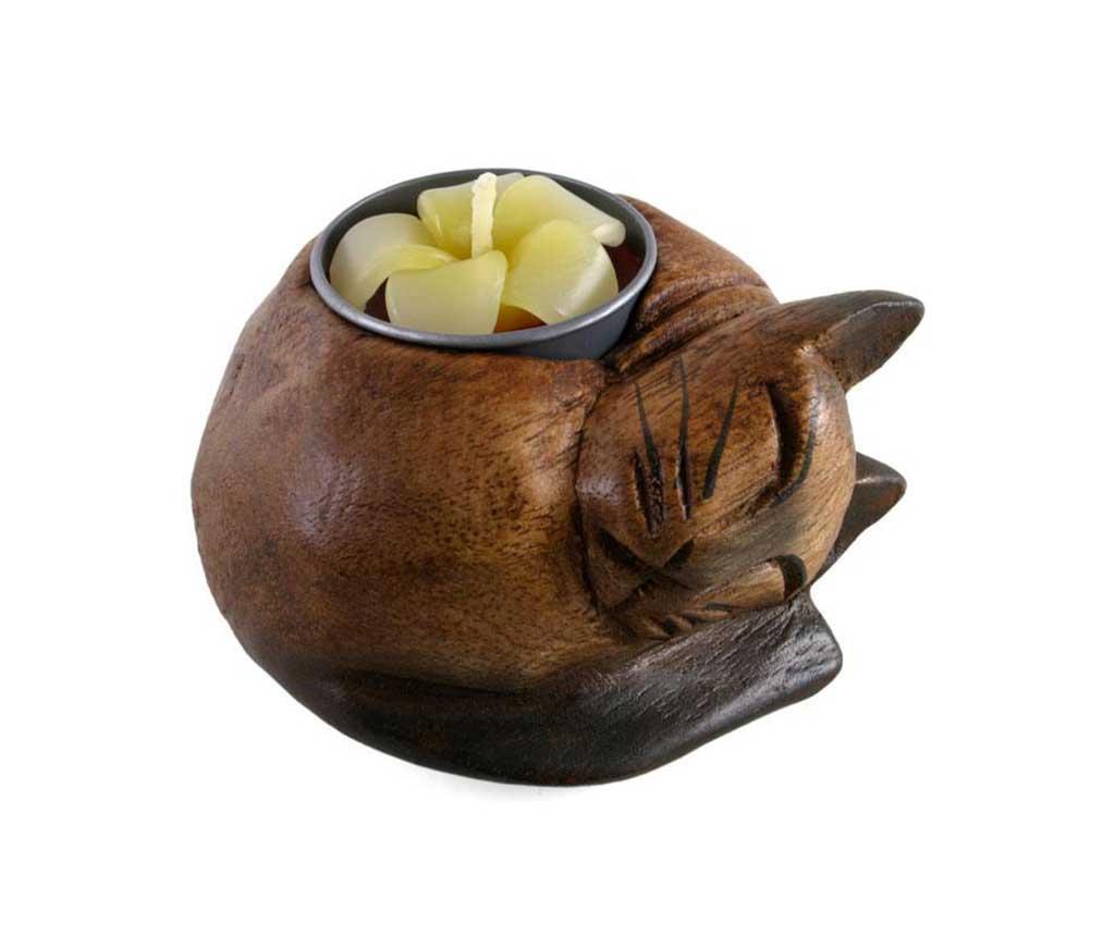 Držač za svijeću Curled Cat