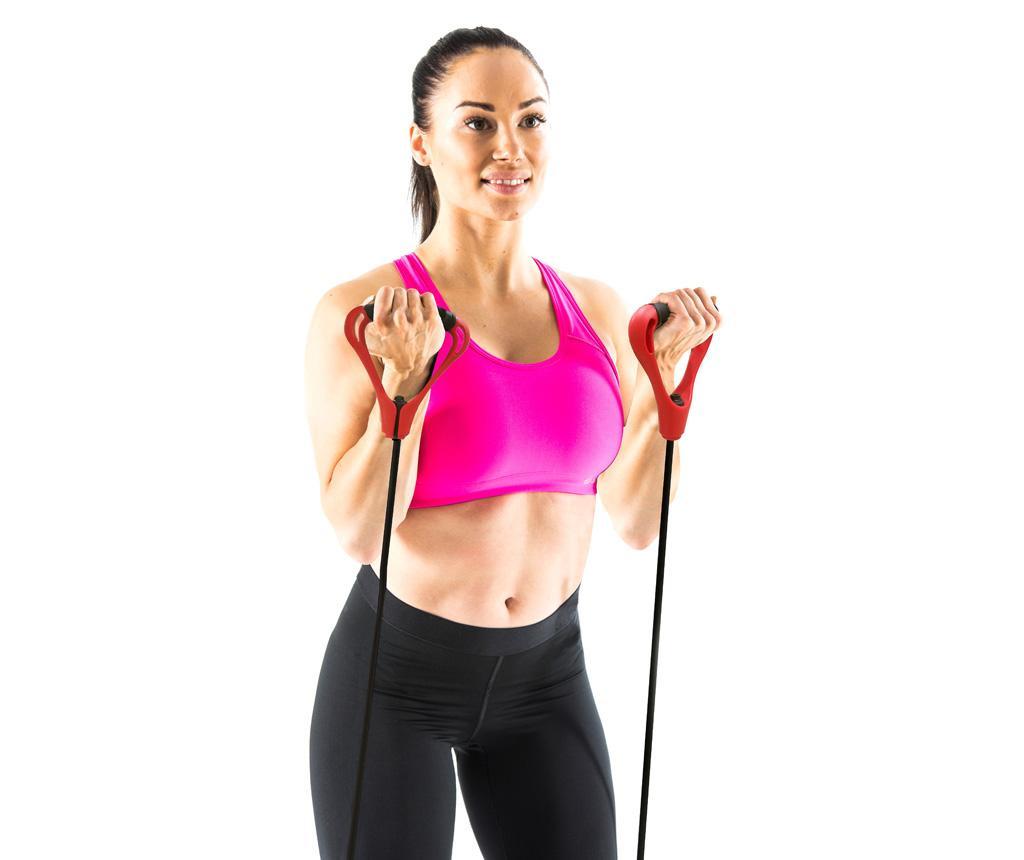 Set 3 elastičnih trakov in 2 ročajev Exercise Tube