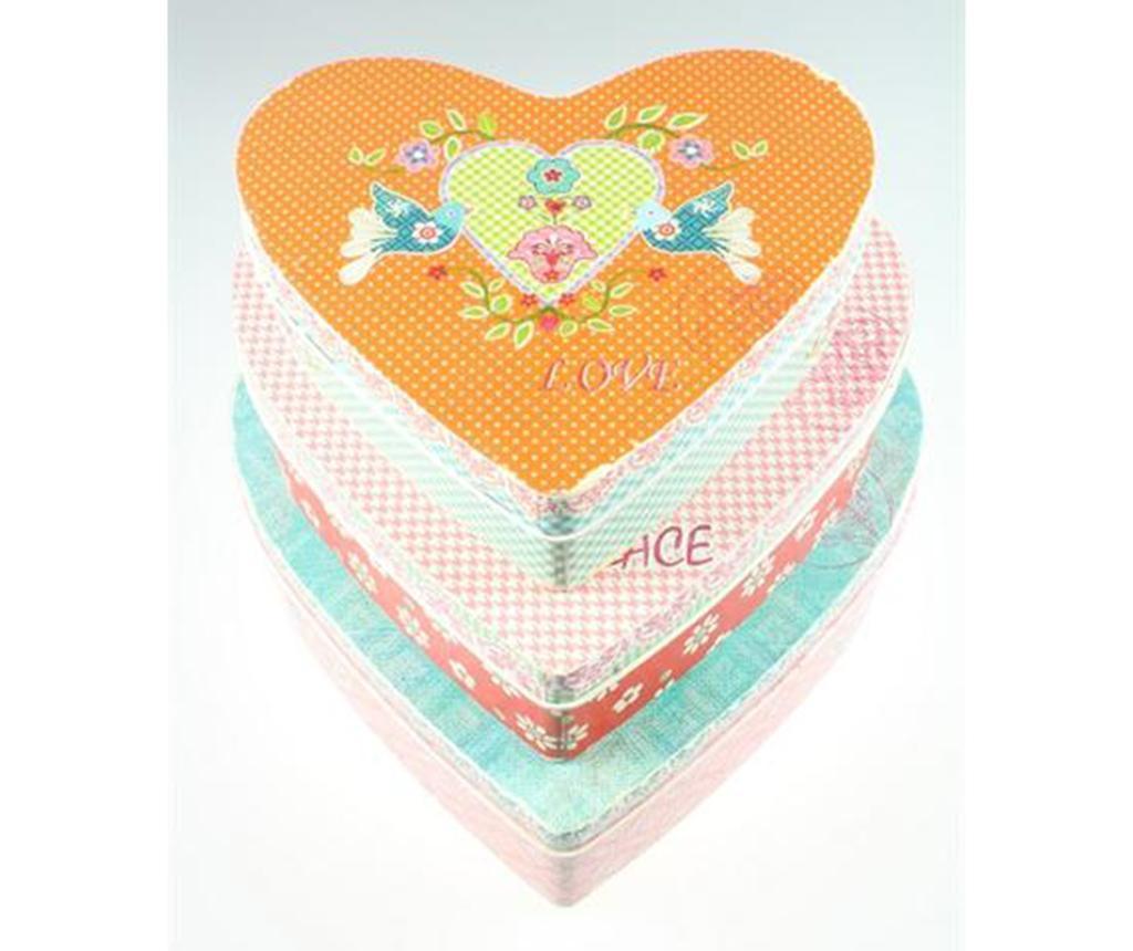 Hearts 3 darab Doboz fedővel