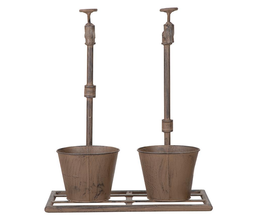 Set 2 držača za posudu za cvijeće Industrial Duo