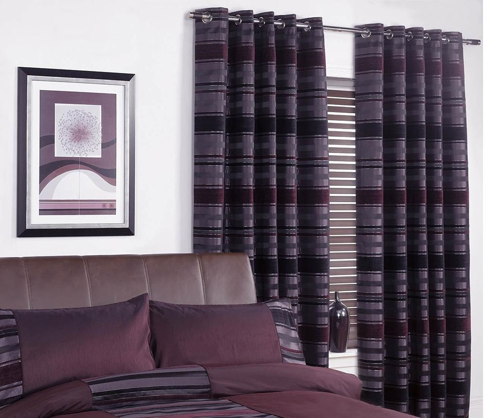 Set 2 draperii New York Aubergine 229x274 cm