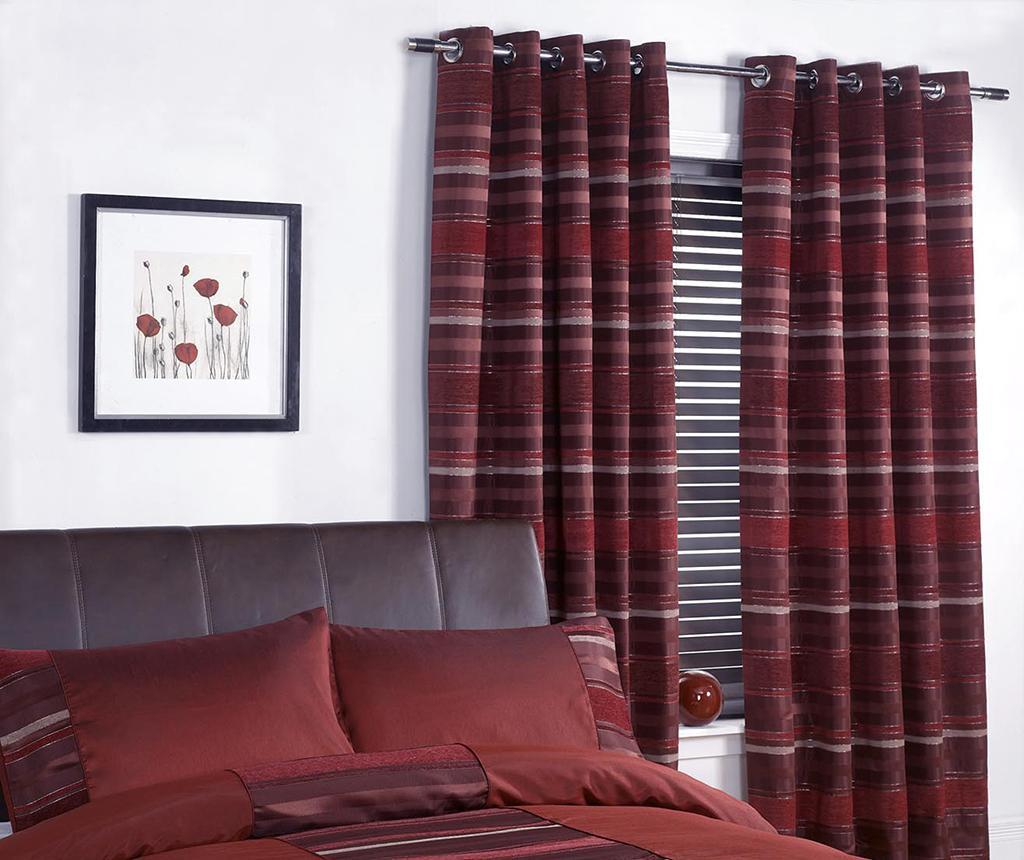 Set 2 draperii New York Red 229x229 cm