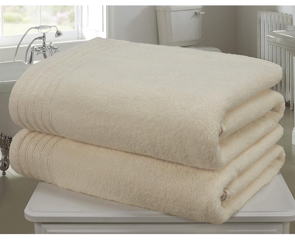 So Soft  Cream 2 db Fürdőszobai törölköző 100x140 cm