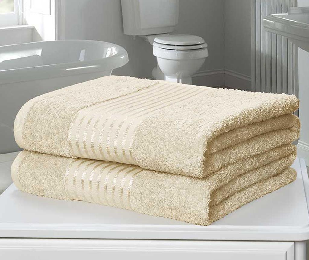 Windsor Cream 2 db Fürdőszobai törölköző 90x140 cm