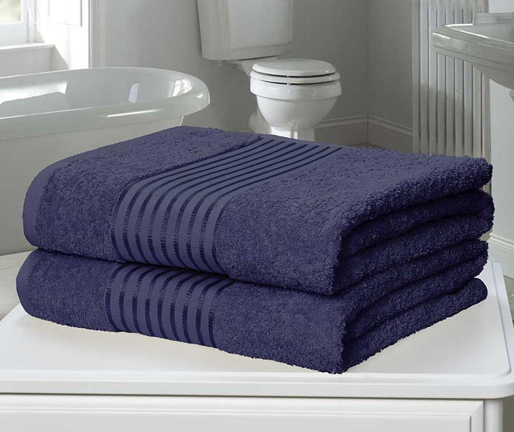 Set 2 kupaonska ručnika Windsor Denim 90x140 cm