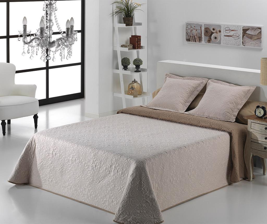 Set s posteljnim pregrinjalom Single Alma Twice Beige