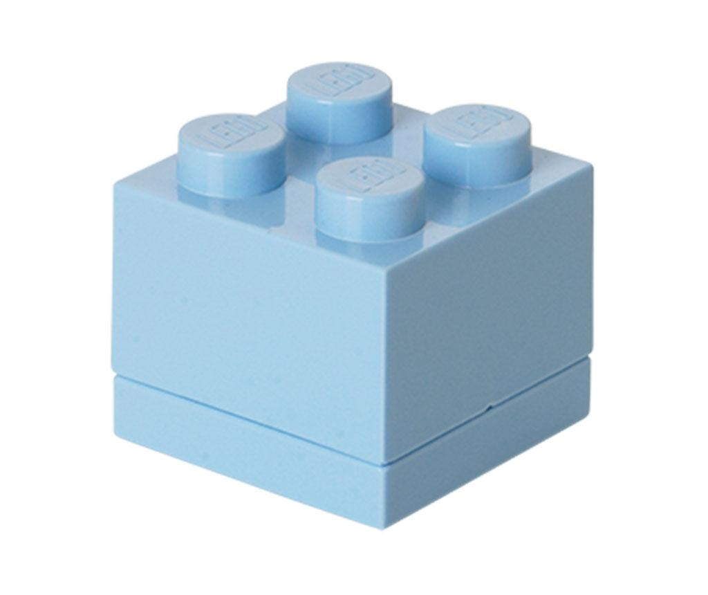 Škatla s pokrovom Lego Mini Square Light Blue
